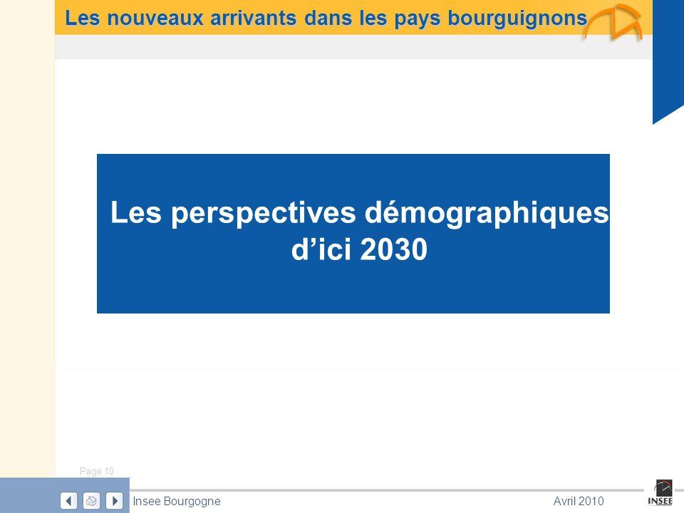 Les perspectives démographiques d'ici 2030