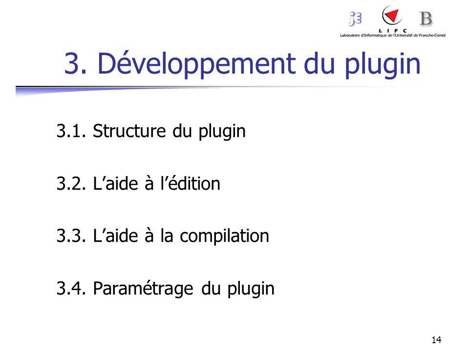 3. Développement du plugin