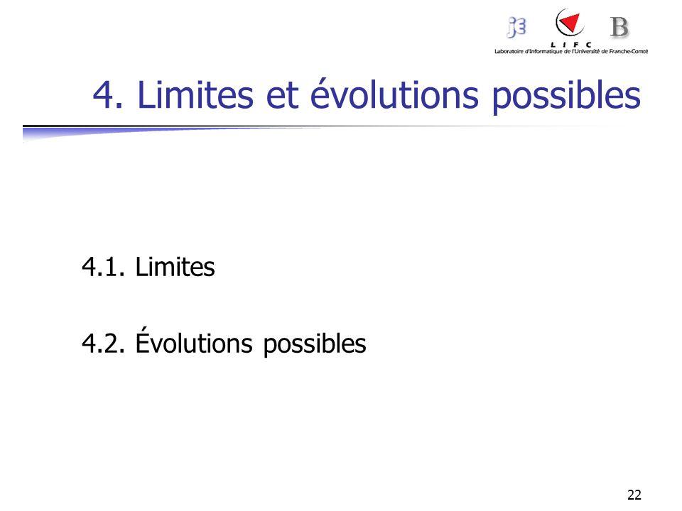 4. Limites et évolutions possibles