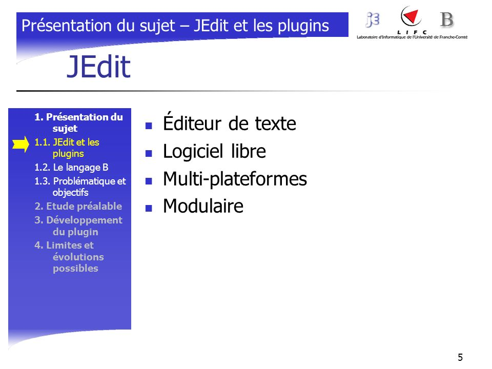 JEdit Éditeur de texte Logiciel libre Multi-plateformes Modulaire
