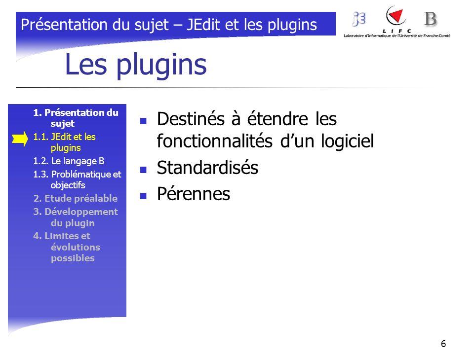 Les plugins Destinés à étendre les fonctionnalités d'un logiciel
