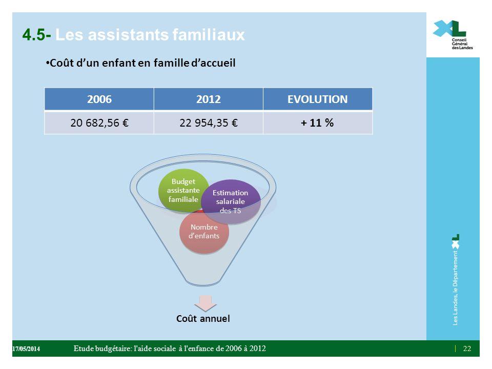 4.5- Les assistants familiaux