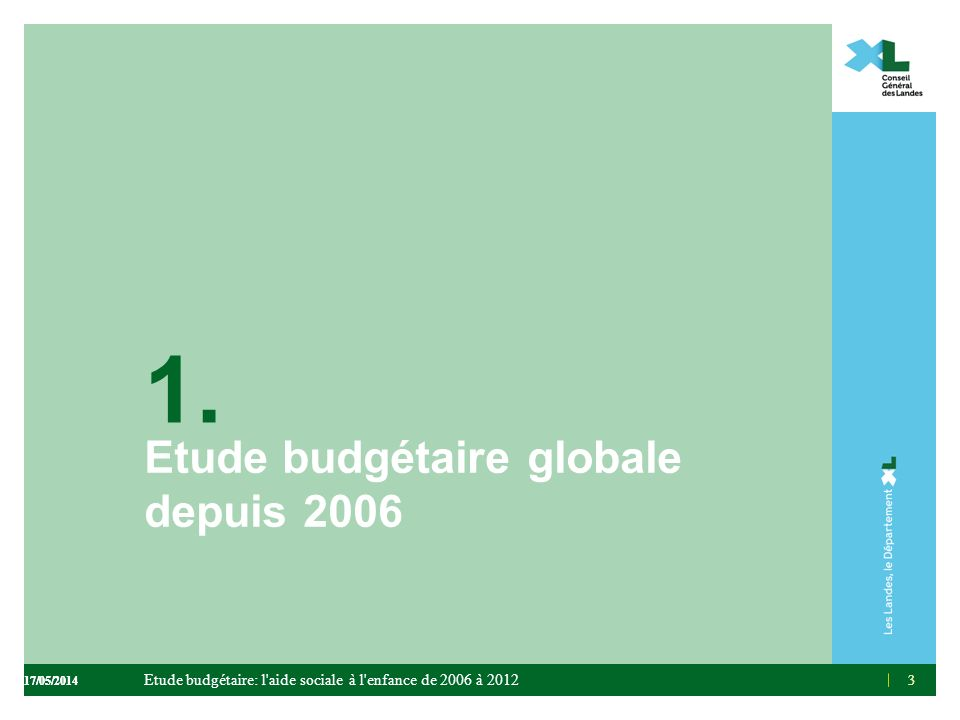 Etude budgétaire globale depuis 2006