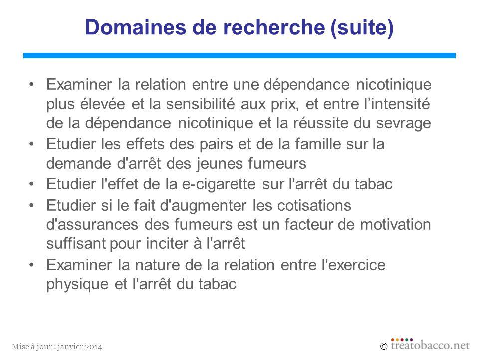 Domaines de recherche (suite)