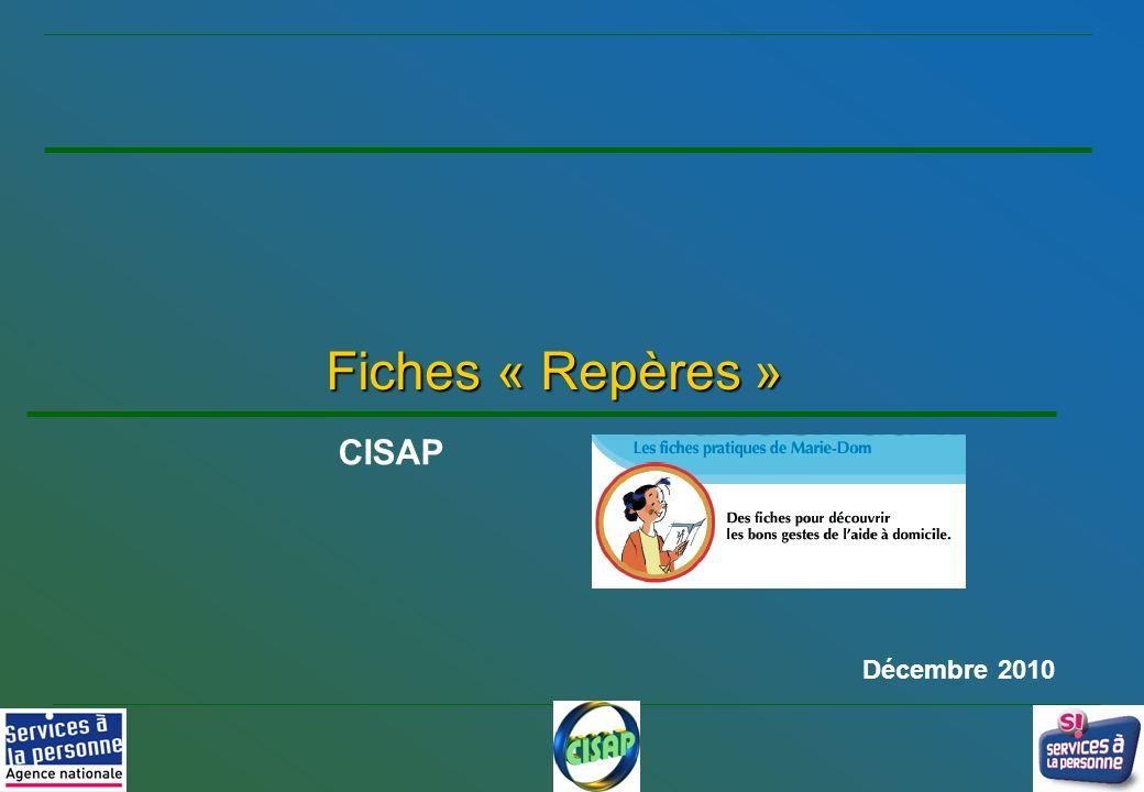 Fiches « Repères » CISAP Décembre 2010