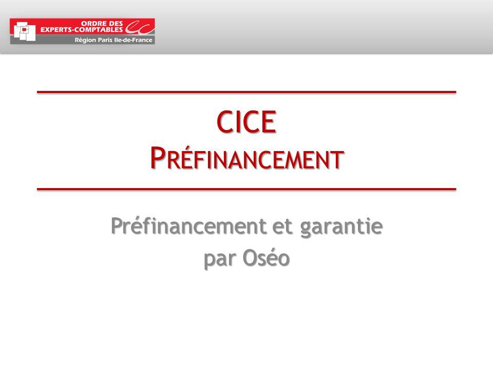 Préfinancement et garantie par Oséo