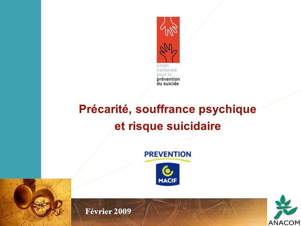 Précarité, souffrance psychique et risque suicidaire