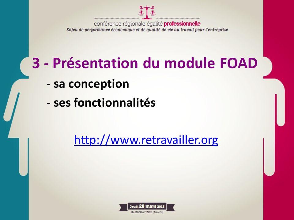3 - Présentation du module FOAD