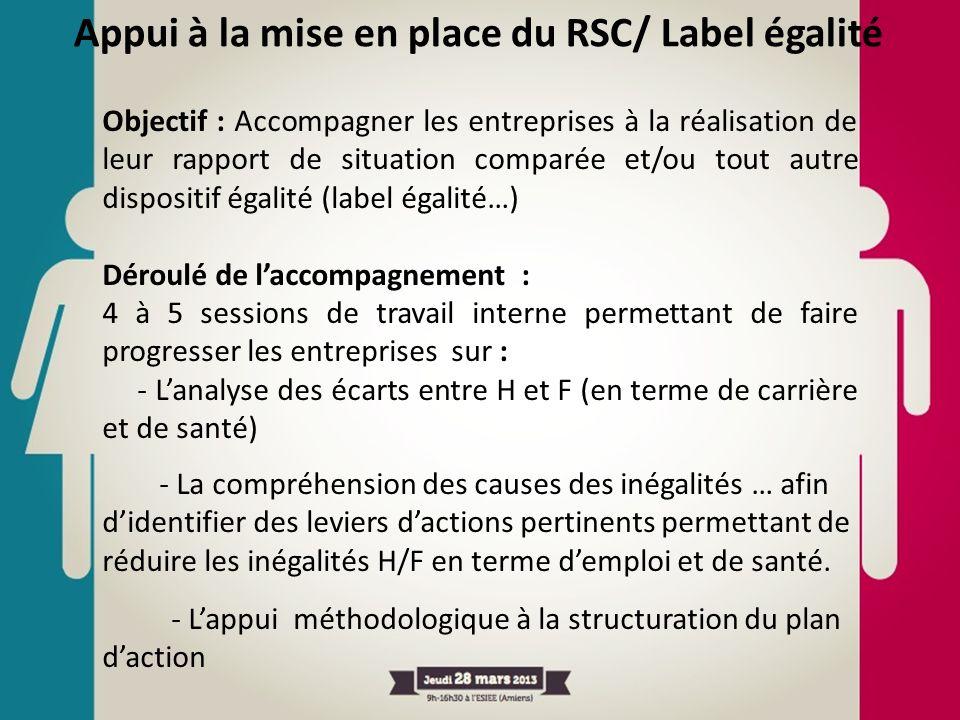 Appui à la mise en place du RSC/ Label égalité