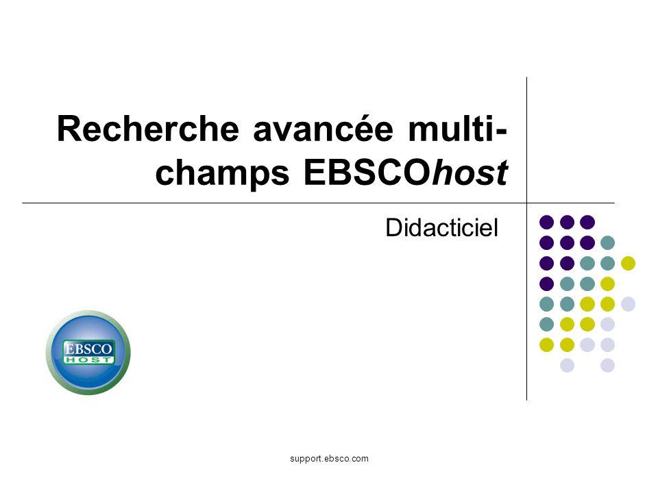 Recherche avancée multi-champs EBSCOhost