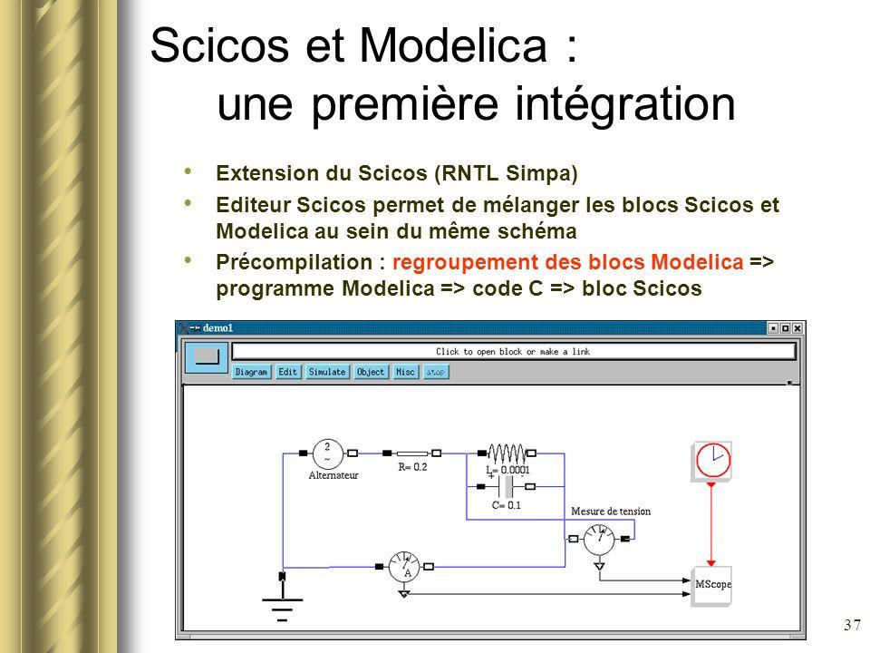 Scicos et Modelica : une première intégration