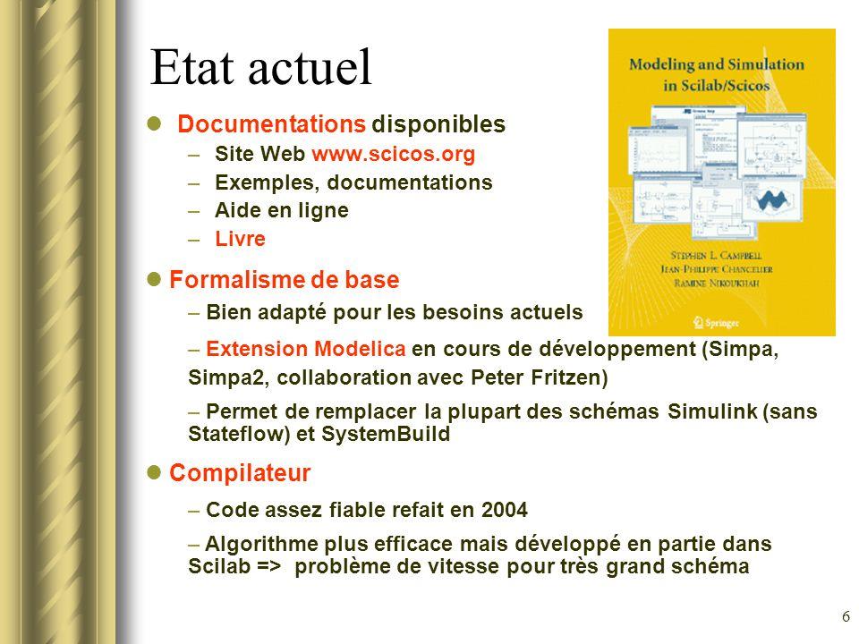 Etat actuel Documentations disponibles Formalisme de base Compilateur