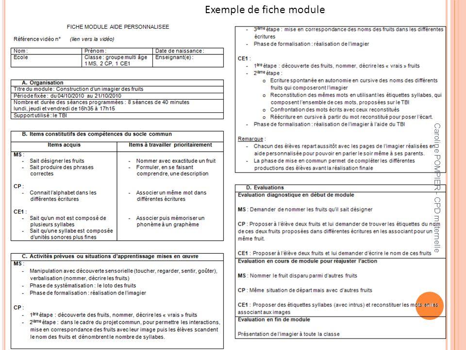 Exemple de fiche module