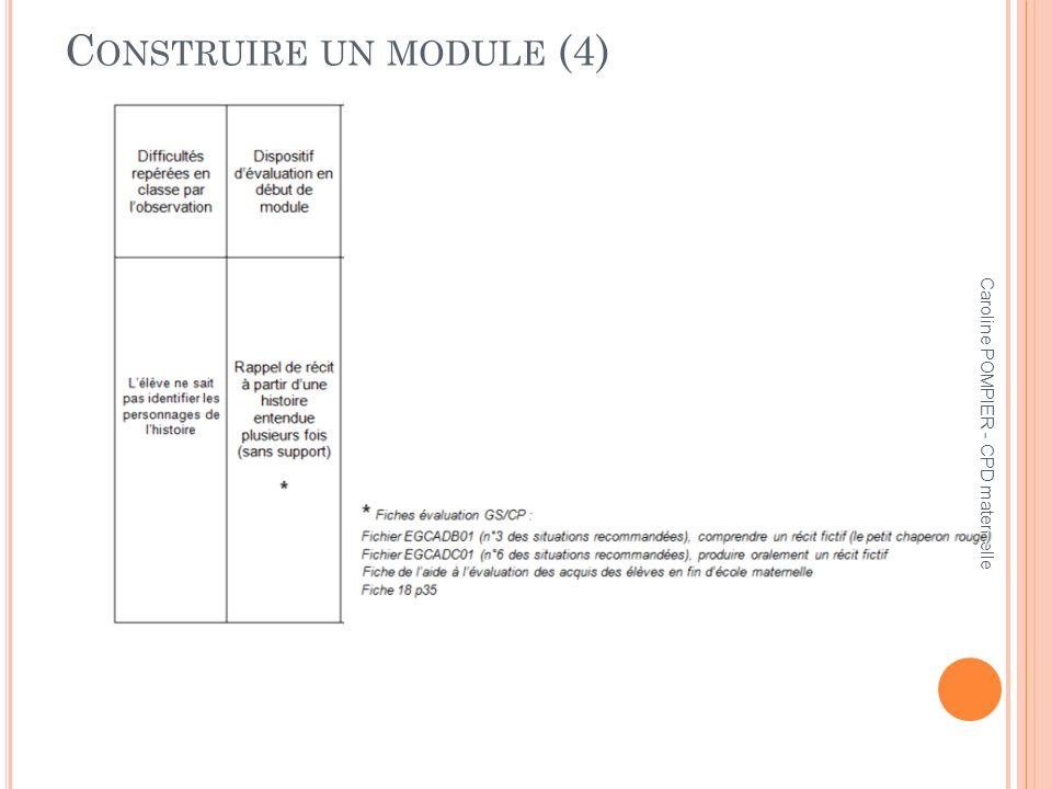 Construire un module (4)