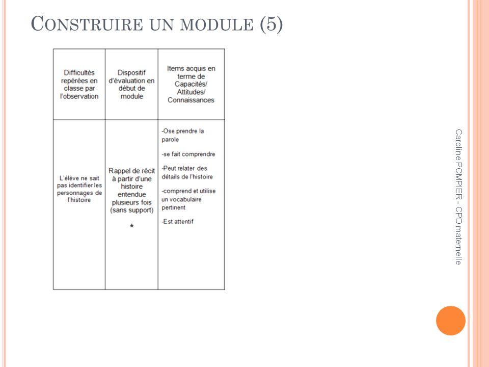 Construire un module (5)