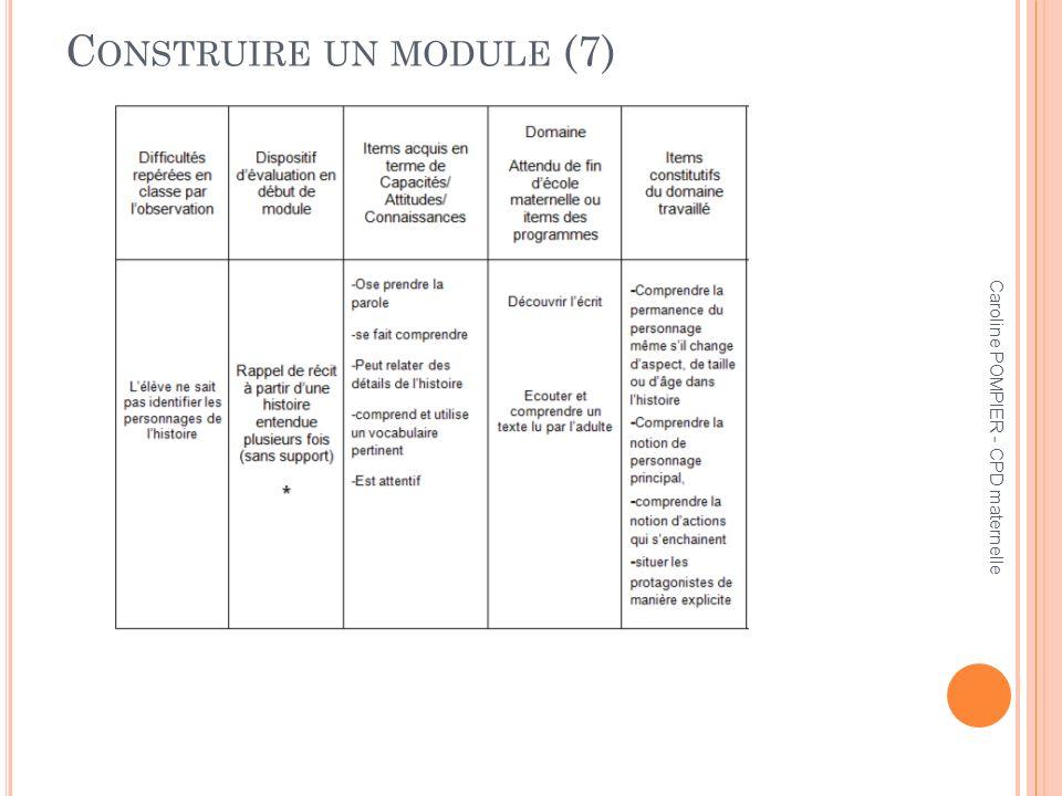 Construire un module (7)