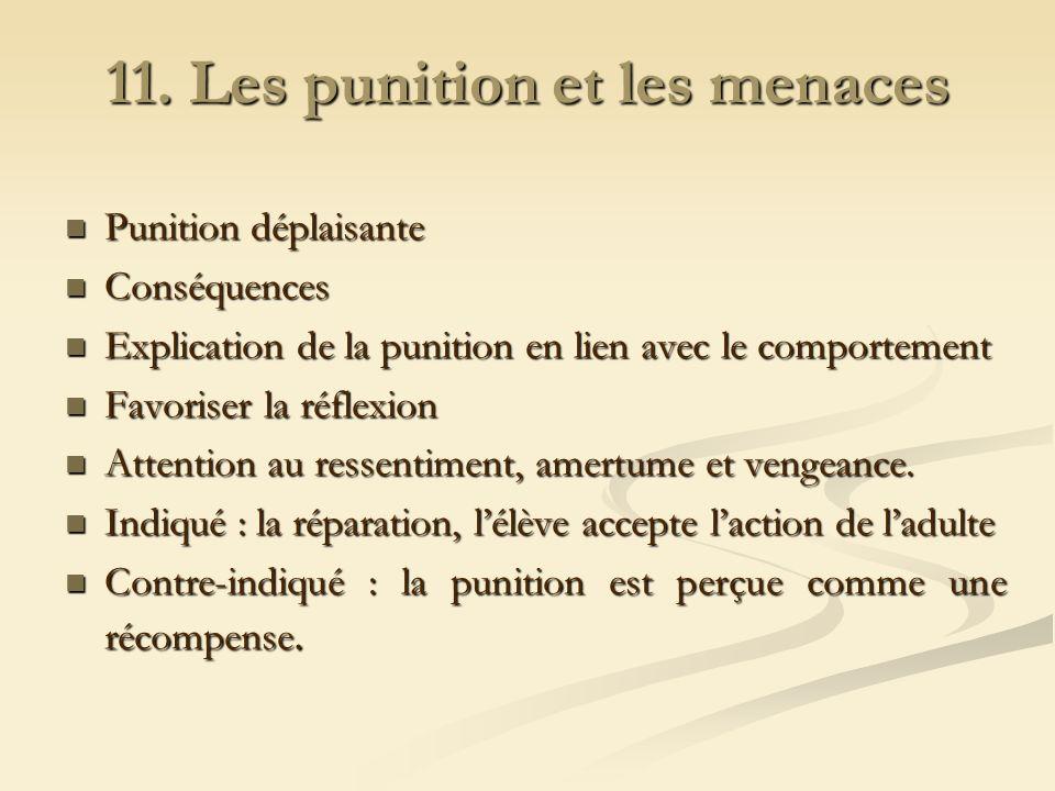 11. Les punition et les menaces