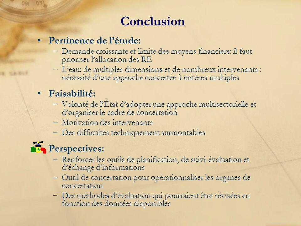 Conclusion Pertinence de l'étude: Faisabilité: Perspectives: