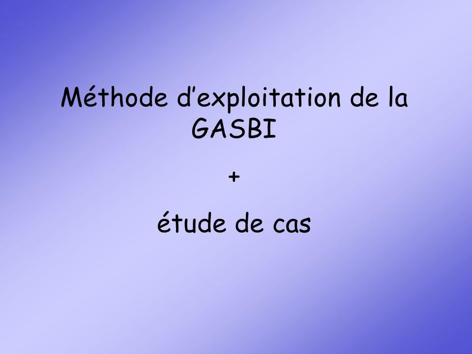 Méthode d'exploitation de la GASBI