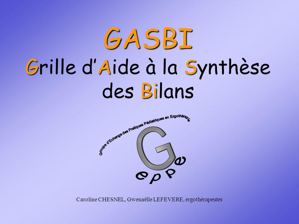 GASBI Grille d'Aide à la Synthèse des Bilans