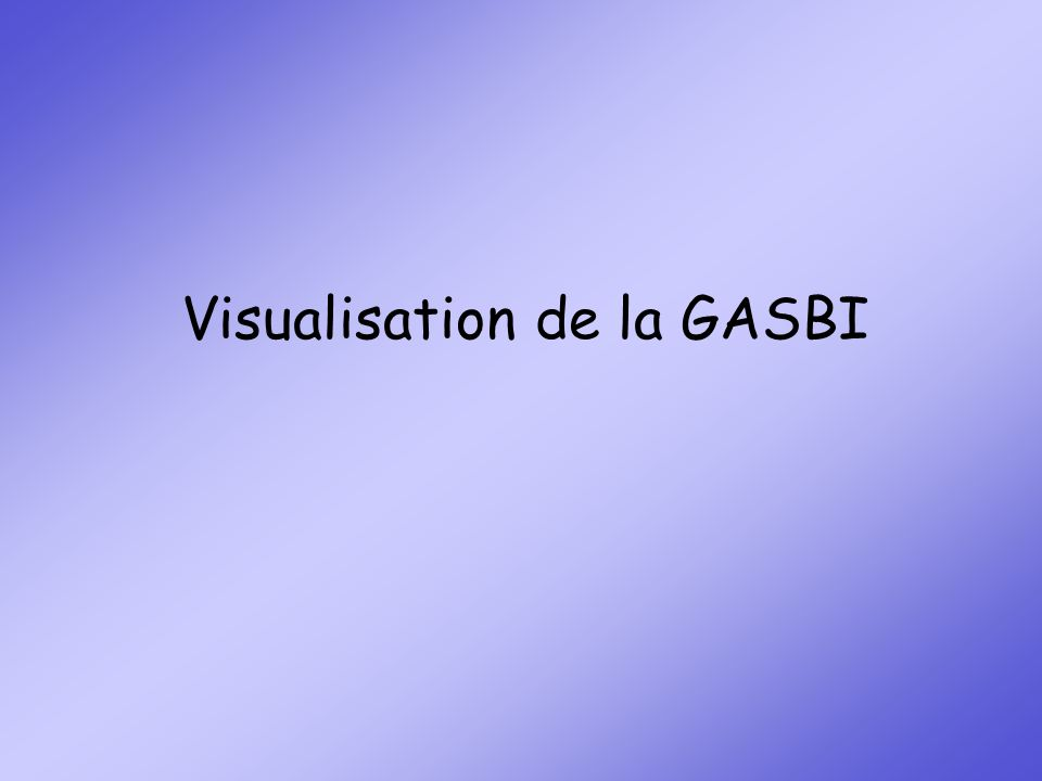 Visualisation de la GASBI