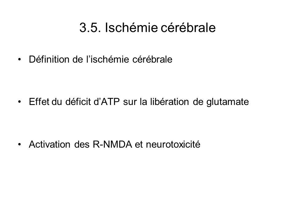 3.5. Ischémie cérébrale Définition de l'ischémie cérébrale