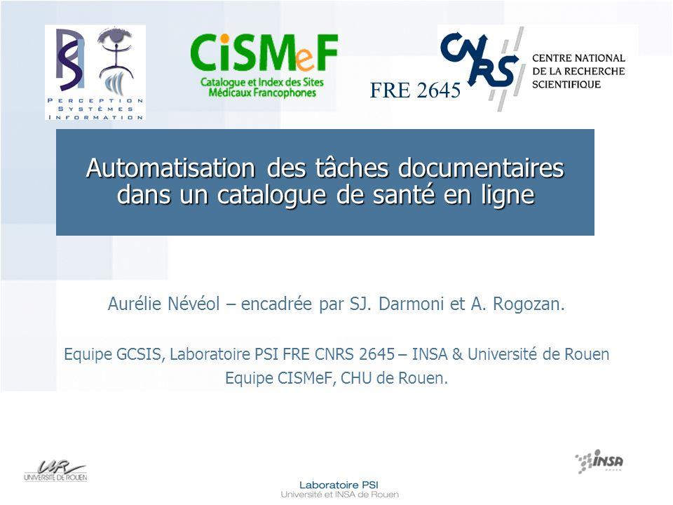 Automatisation des tâches documentaires dans un catalogue de santé en ligne