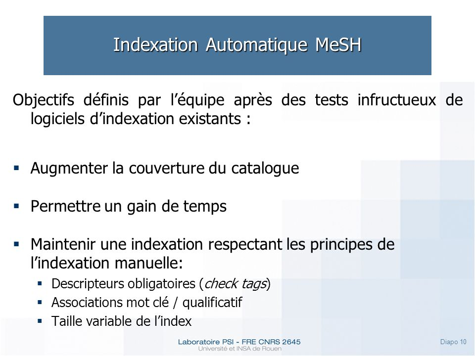 Indexation Automatique MeSH