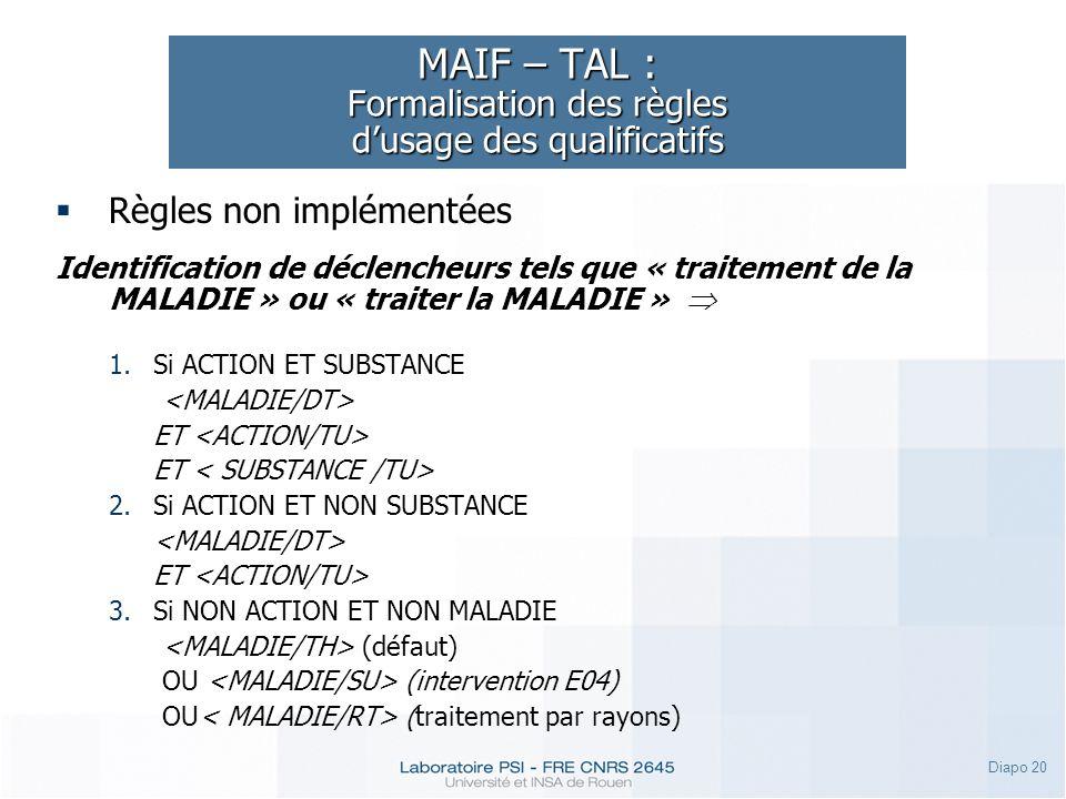 MAIF – TAL : Formalisation des règles d'usage des qualificatifs