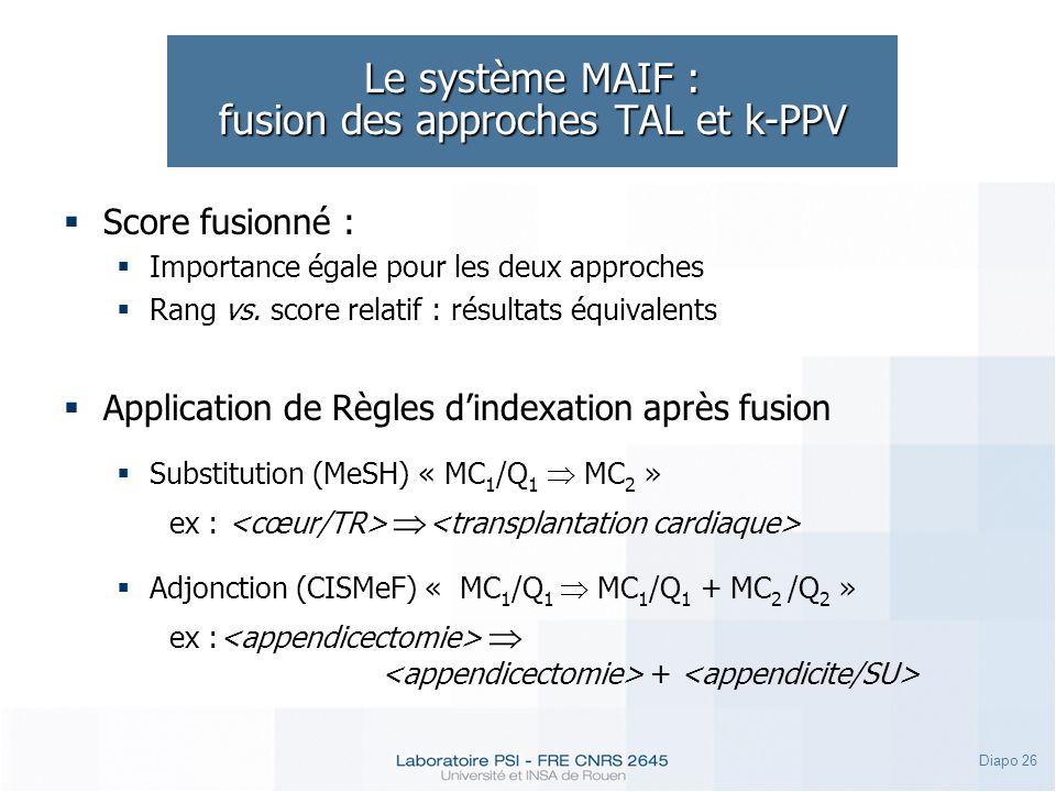 Le système MAIF : fusion des approches TAL et k-PPV