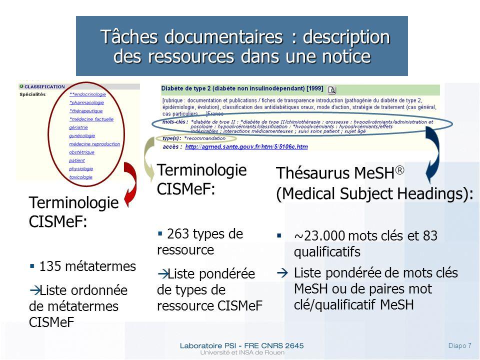 Tâches documentaires : description des ressources dans une notice