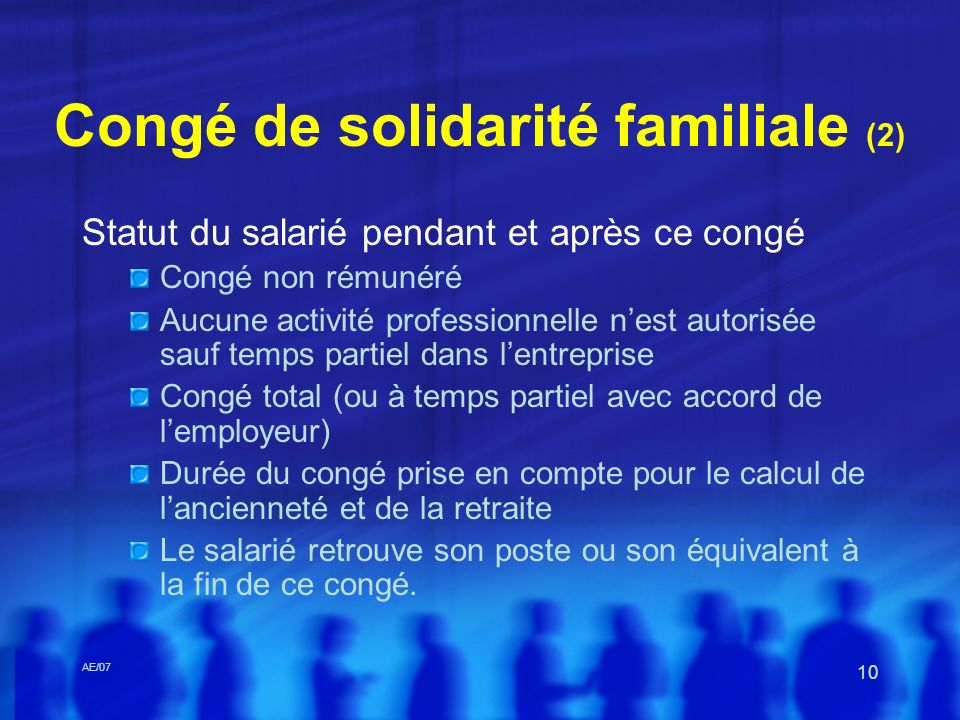 Congé de solidarité familiale (2)