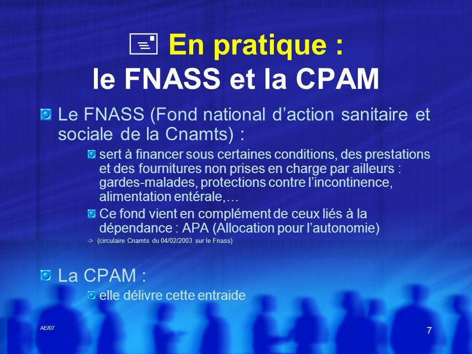  En pratique : le FNASS et la CPAM