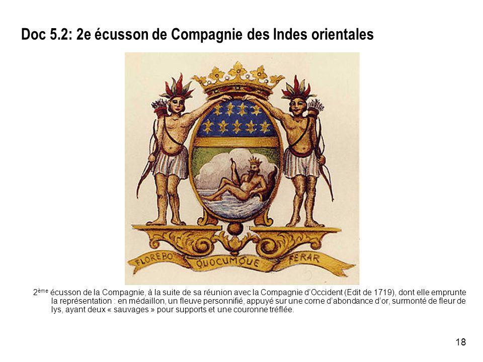 Doc 5.2: 2e écusson de Compagnie des Indes orientales