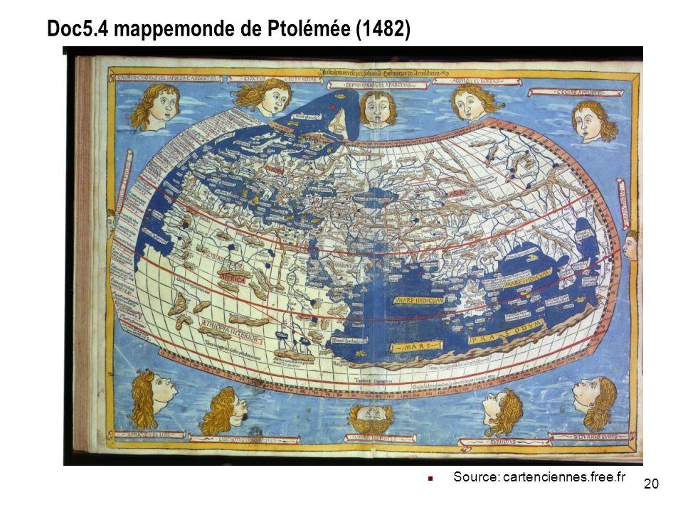 Doc5.4 mappemonde de Ptolémée (1482)