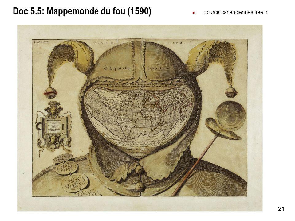 Doc 5.5: Mappemonde du fou (1590)