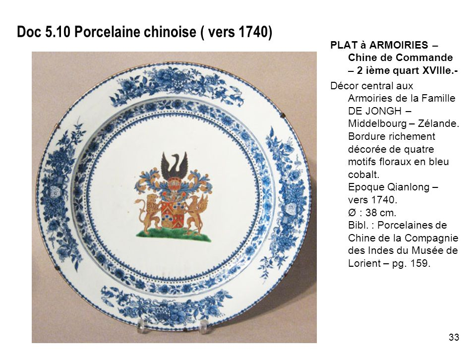 Doc 5.10 Porcelaine chinoise ( vers 1740)