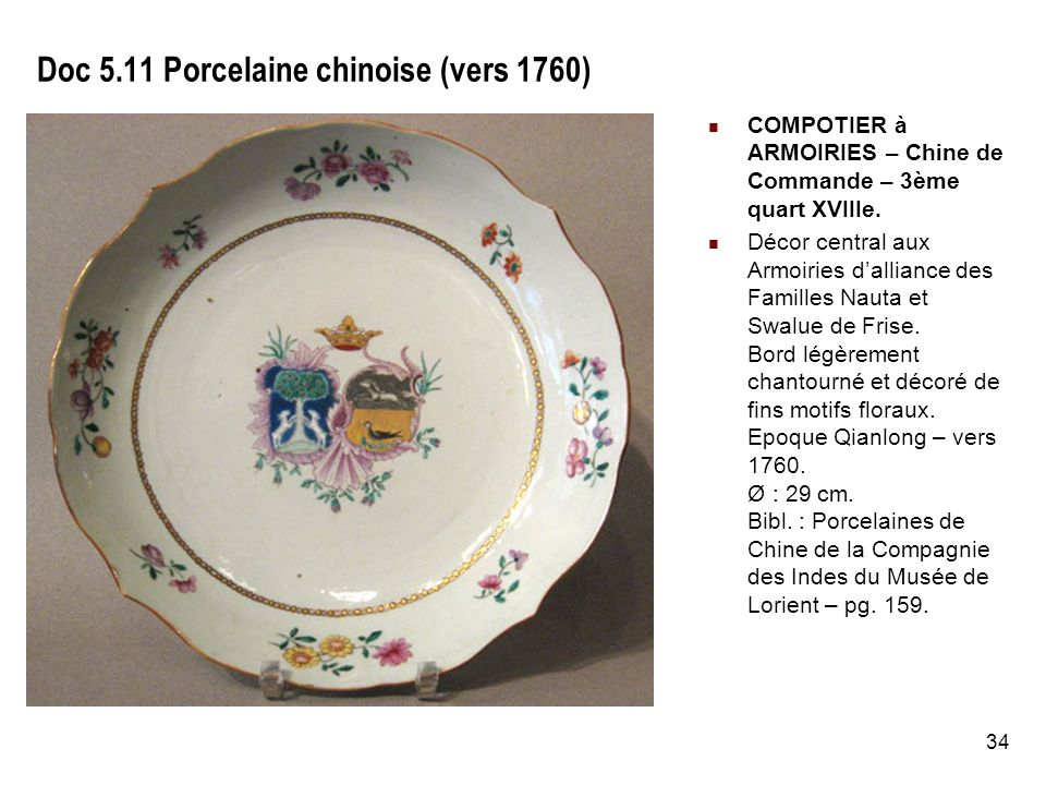 Doc 5.11 Porcelaine chinoise (vers 1760)