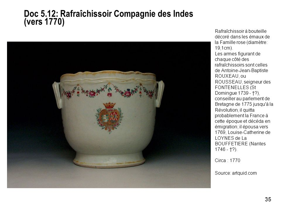 Doc 5.12: Rafraîchissoir Compagnie des Indes (vers 1770)