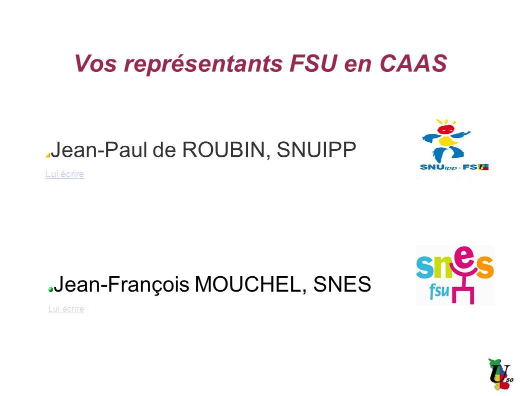 Vos représentants FSU en CAAS