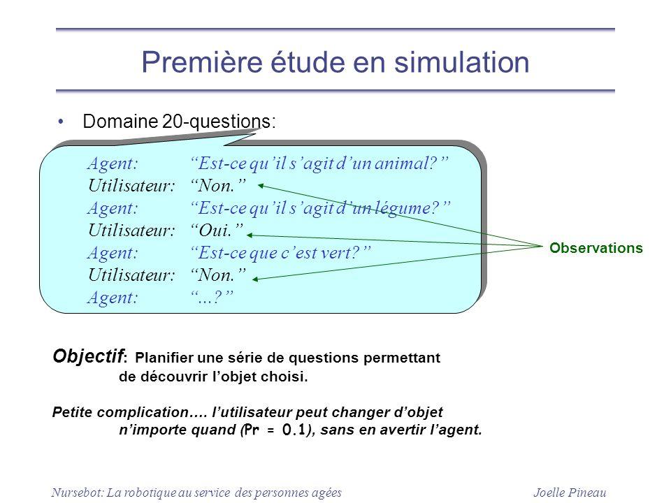 Première étude en simulation