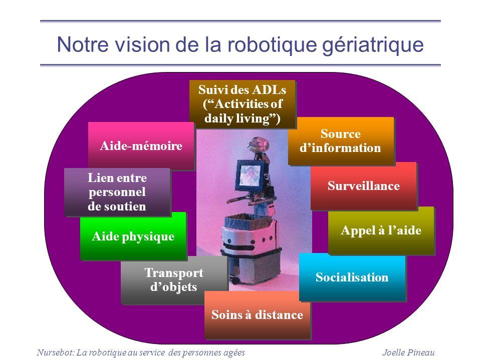 Notre vision de la robotique gériatrique