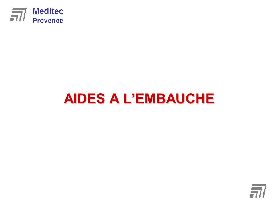 Meditec Provence AIDES A L'EMBAUCHE