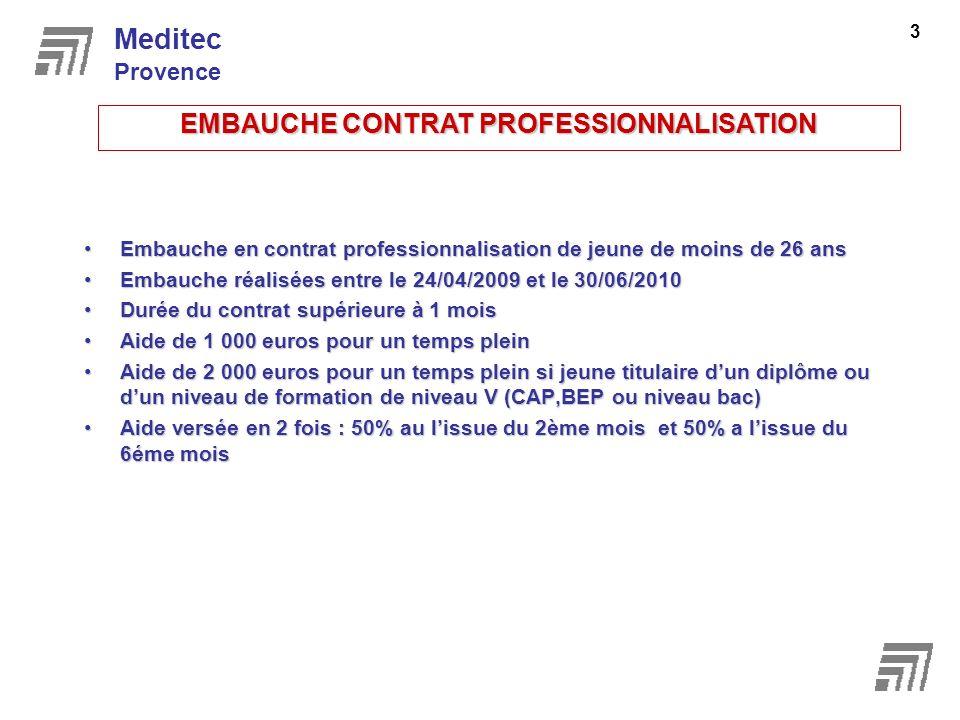 EMBAUCHE CONTRAT PROFESSIONNALISATION