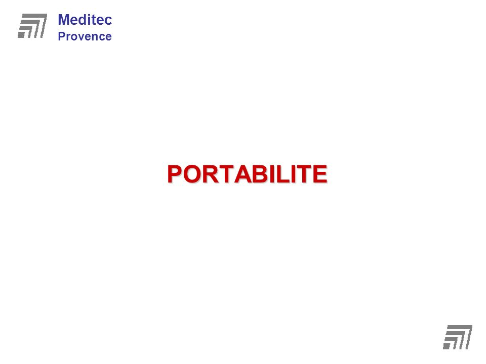 Meditec Provence PORTABILITE 8