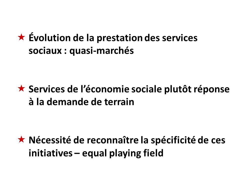 Évolution de la prestation des services sociaux : quasi-marchés