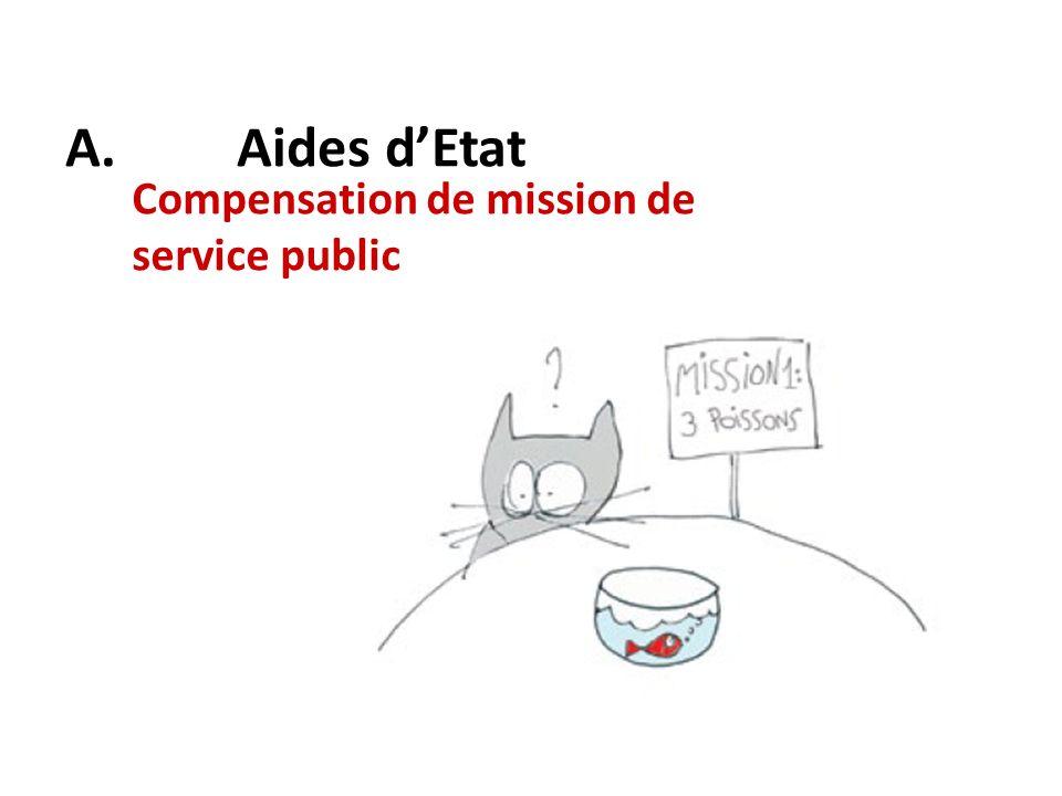A. Aides d'Etat Compensation de mission de service public