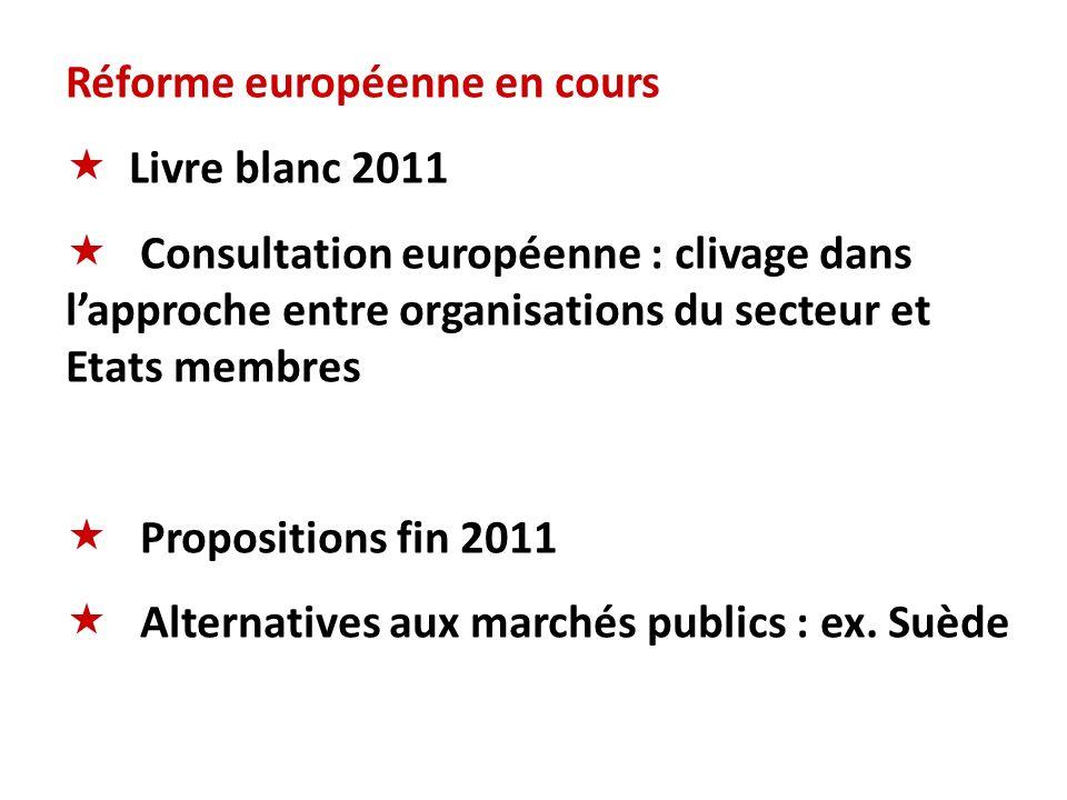Réforme européenne en cours Livre blanc 2011