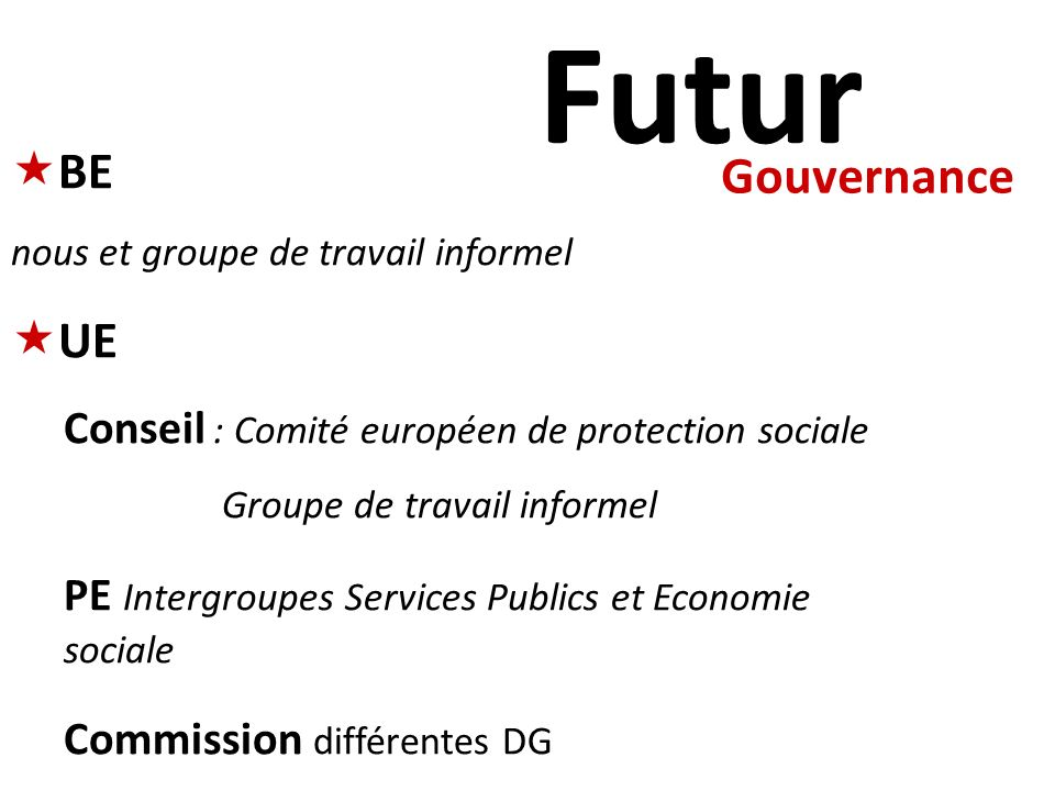 Futur BE UE Gouvernance