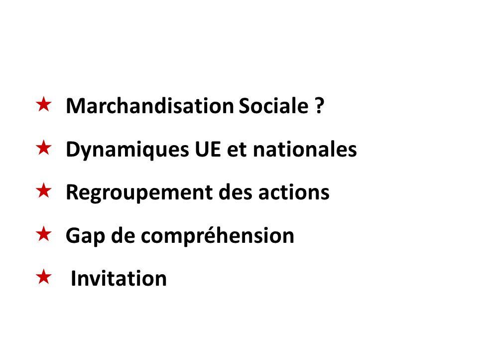 Marchandisation Sociale Dynamiques UE et nationales